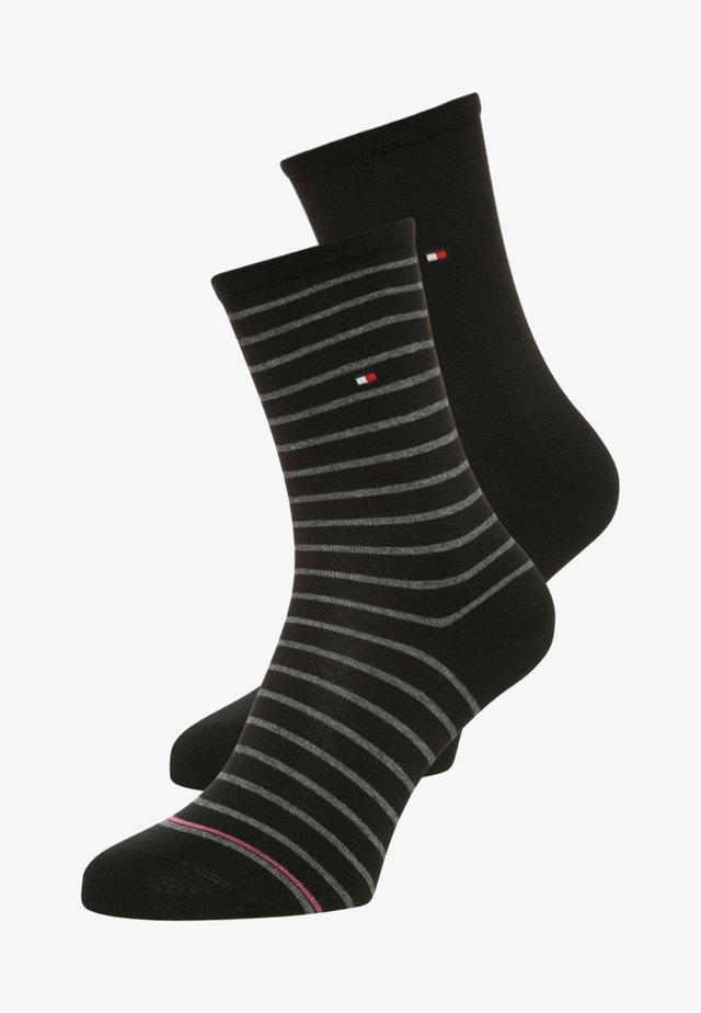 WOMEN SMALL STRIPE 2 PACK - Socks - black