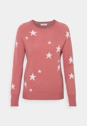 STAR CREW NECK - Strikkegenser - rose pink/ivory