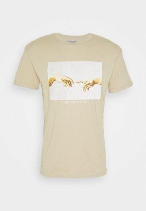 JORART CREW NECK - T-shirt con stampa - white pepper