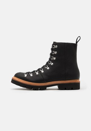 BRADY - Lace-up ankle boots - black