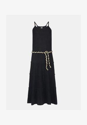 FARIDA CRINKLE DRESS - Iltapuku - black