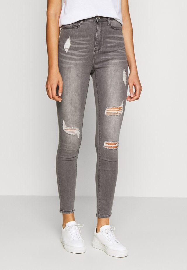 SINNER HIGHWAISTED AUTHENTIC RIPPED SKINNY - Jeans Skinny Fit - grey