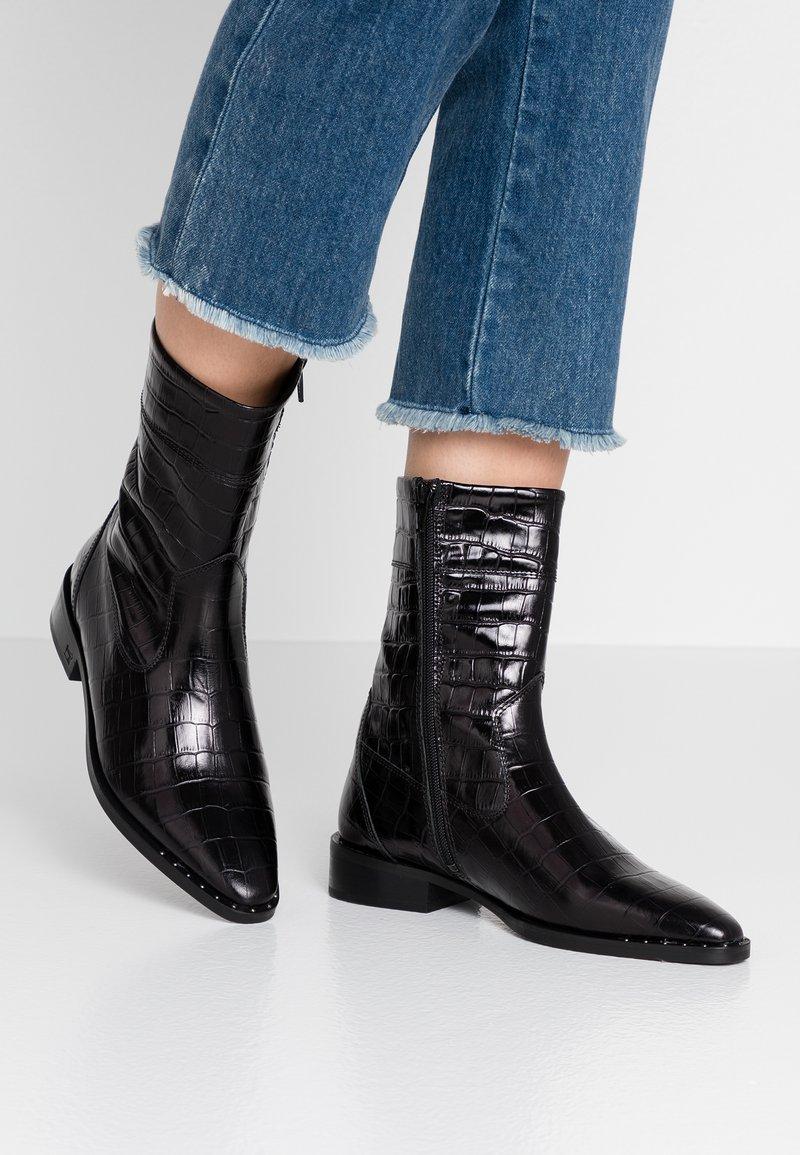 Scotch & Soda - OPAL MID BOOT - Vysoká obuv - black