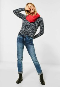 Cecil - MIT PUNKTEN - Long sleeved top - blau - 1