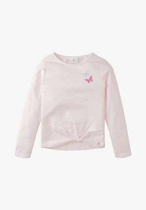 MIT APPLIKATION - Long sleeved top - neon light pink|pink
