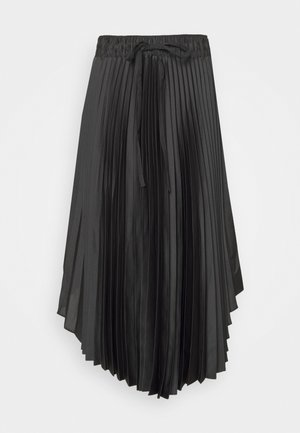 ELASTICATED PLEATED SKIRT - A-lijn rok - darg grey