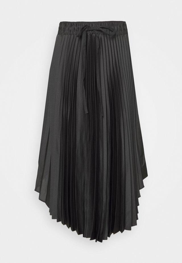 ELASTICATED PLEATED SKIRT - A-line skirt - darg grey