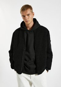PULL&BEAR - Bomber Jacket - mottled black - 0