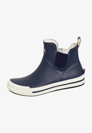 Ankle boots - dunkelblau/weiß