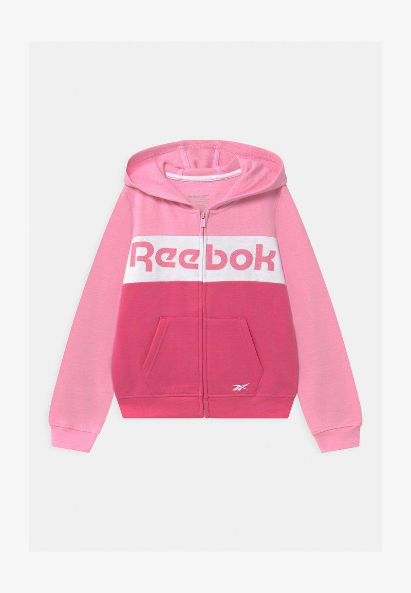 Reebok - FULL ZIP COLOR BLOCK HOODIE - Mikina na zip - shock pink