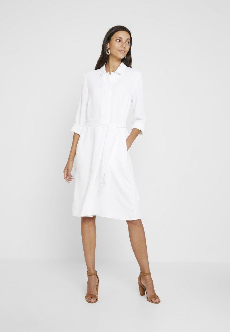 Cortefiel - TEXTURED STYLE DRESS - Shirt dress - white