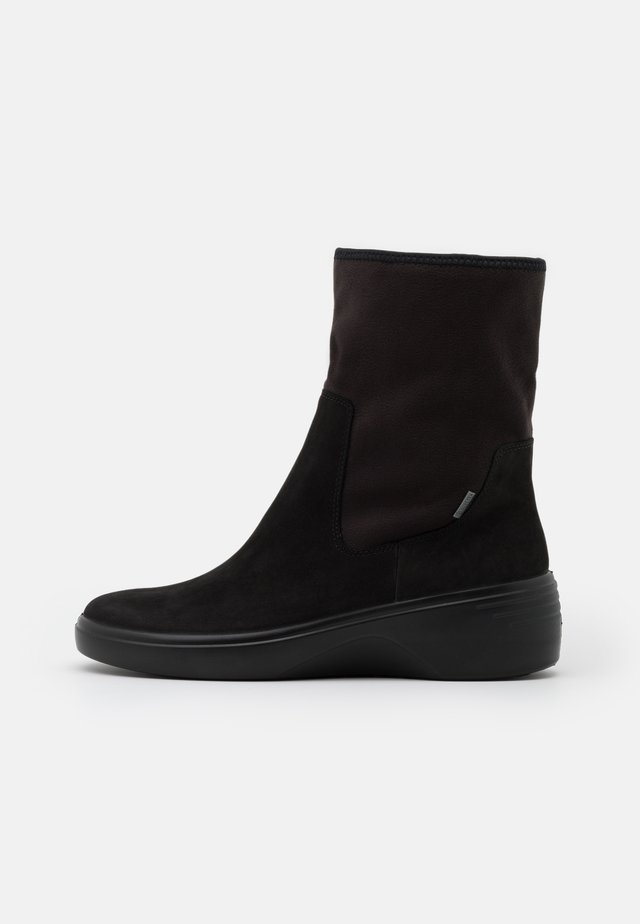 SOFT WEDGE  - Wedge Ankle Boots - black