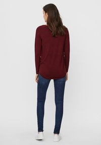 Vero Moda - VMNELLIE GLORY LONG  - Jumper - cabernet - 2