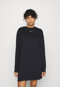 Nike Sportswear - DRESS - Jersey dress - black/white - 0