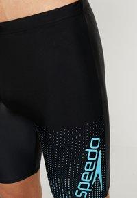 Speedo - GALA LOGO JAMMER - Swimming trunks - black/aquasplash - 3