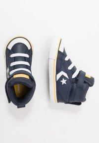 Converse - PRO BLAZE STRAP VARSITY - Zapatillas altas - obsidian/amarillo/white - 0