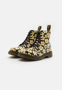 Dr. Martens - 1460 PASCAL - Lace-up ankle boots - black/yellow - 1
