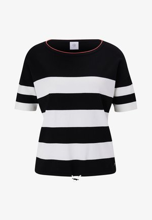MIO - Print T-shirt - schwarz/weiß