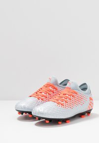 Puma - FUTURE 4.4 FG/AG - Moulded stud football boots - glacial blue-nrgy red-high risk red - 2