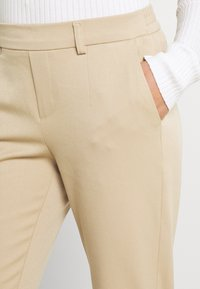 Object - OBJLISA SLIM PANT - Kalhoty - beige - 4