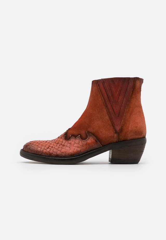 DEBORA - Bottines - cognac