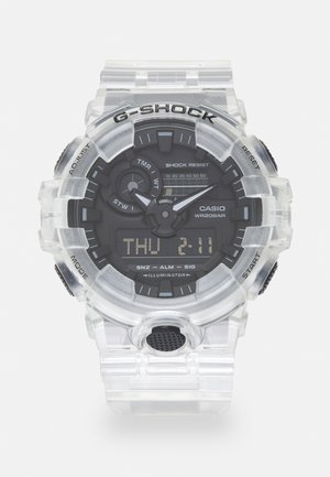 WHITE SKELETON GA-700SKE UNISEX - Digitaal horloge - transparent/white