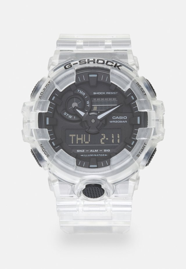 WHITE SKELETON GA-700SKE UNISEX - Montre à affichage digital - transparent/white