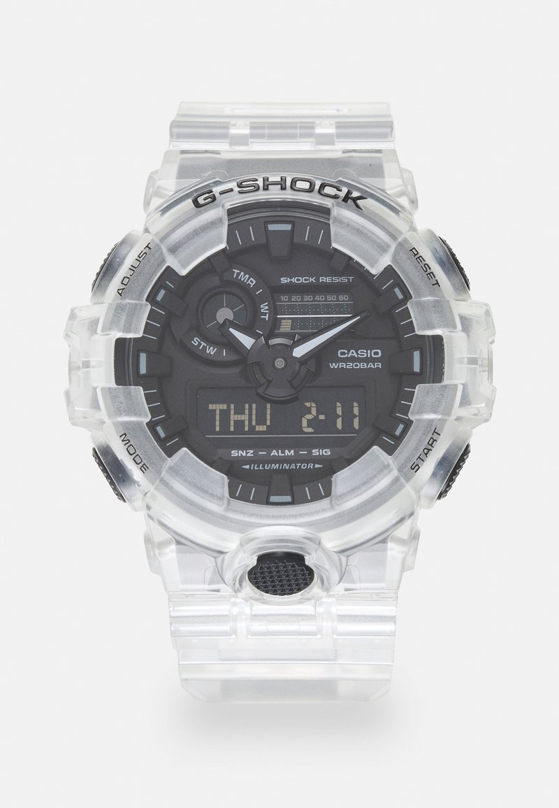 G-SHOCK - WHITE SKELETON GA-700SKE UNISEX - Digital watch - transparent/white