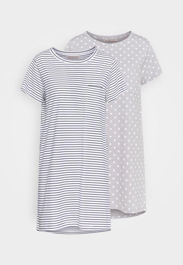 2 PACK - Koszula nocna - blue/white