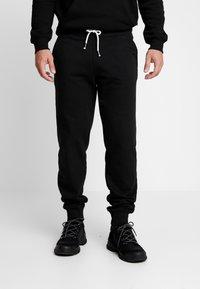 Pier One - 2 PACK - Spodnie treningowe - black/mottled light gre - 0