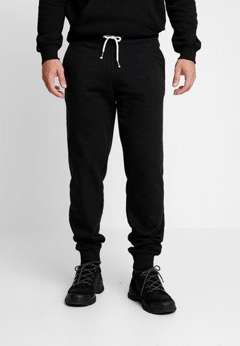 2 PACK - Pantaloni sportivi - black/mottled light gre