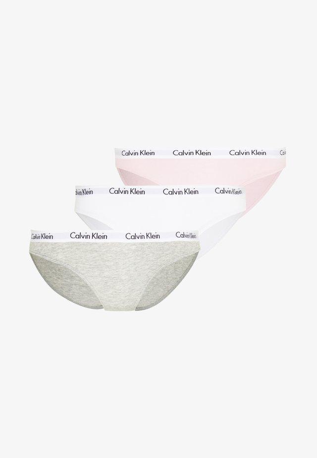 CAROUSEL 3 PACK  - Briefs - bubble gum/white/grey heather