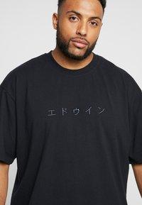 Edwin - KATAKANA EMBROIDERY - Basic T-shirt - black - 4