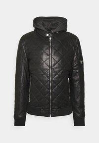 GMCLUDO - Kožená bunda - black