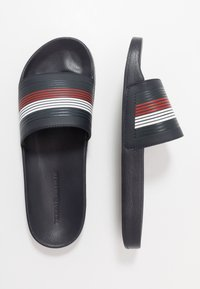 Tommy Hilfiger - SEASONAL POOLSLIDE - Pantofle - blue - 1