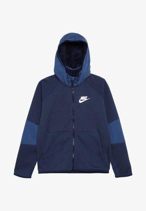 WINTERIZED - Zip-up hoodie - midnight navy/heather/mystic navy/white