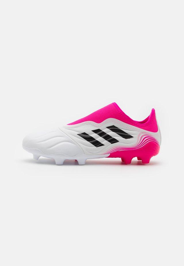 COPA SENSE.3 LL FG - Fodboldstøvler m/ faste knobber - footwear white/core black/shock pink