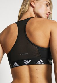 adidas Performance - COMPRESSION WORKOUT BRA MEDIUM SUPPORT - Sujetador deportivo - black/white - 3