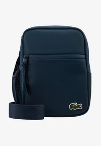 Lacoste - FLAT CROSSOVER BAG - Across body bag - reflecting pond - 6