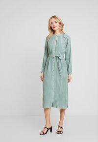 Love Copenhagen - INES PLEATED DRESS - Day dress - faded green - 0