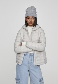 PULL&BEAR - Winter jacket - mottled light grey - 0