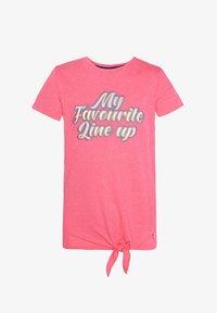 WE Fashion - WE FASHION MÄDCHEN-T-SHIRT MIT APPLIZIERTEM SCHRIFTZUG - T-shirt print - pink - 0