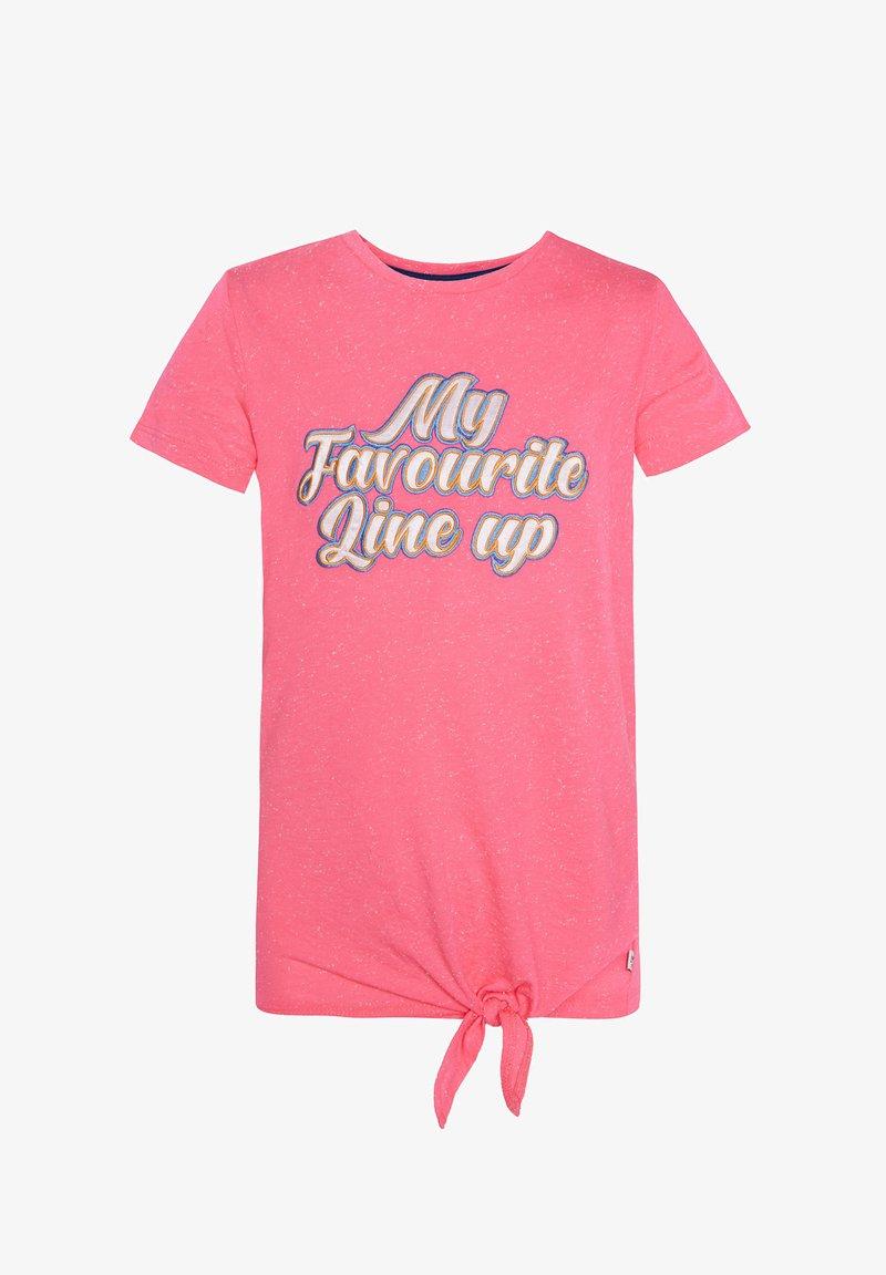 WE Fashion - WE FASHION MÄDCHEN-T-SHIRT MIT APPLIZIERTEM SCHRIFTZUG - T-shirt print - pink