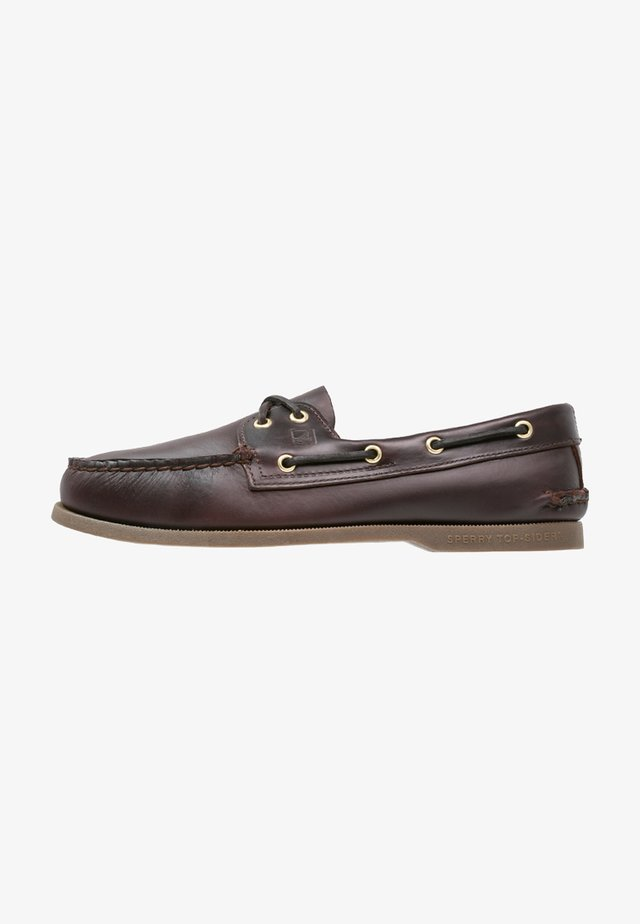 Boat shoes - amaretto