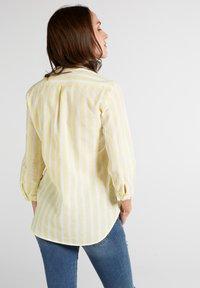 Eterna - MODERN CLASSIC - Blouse - yellow/white - 1