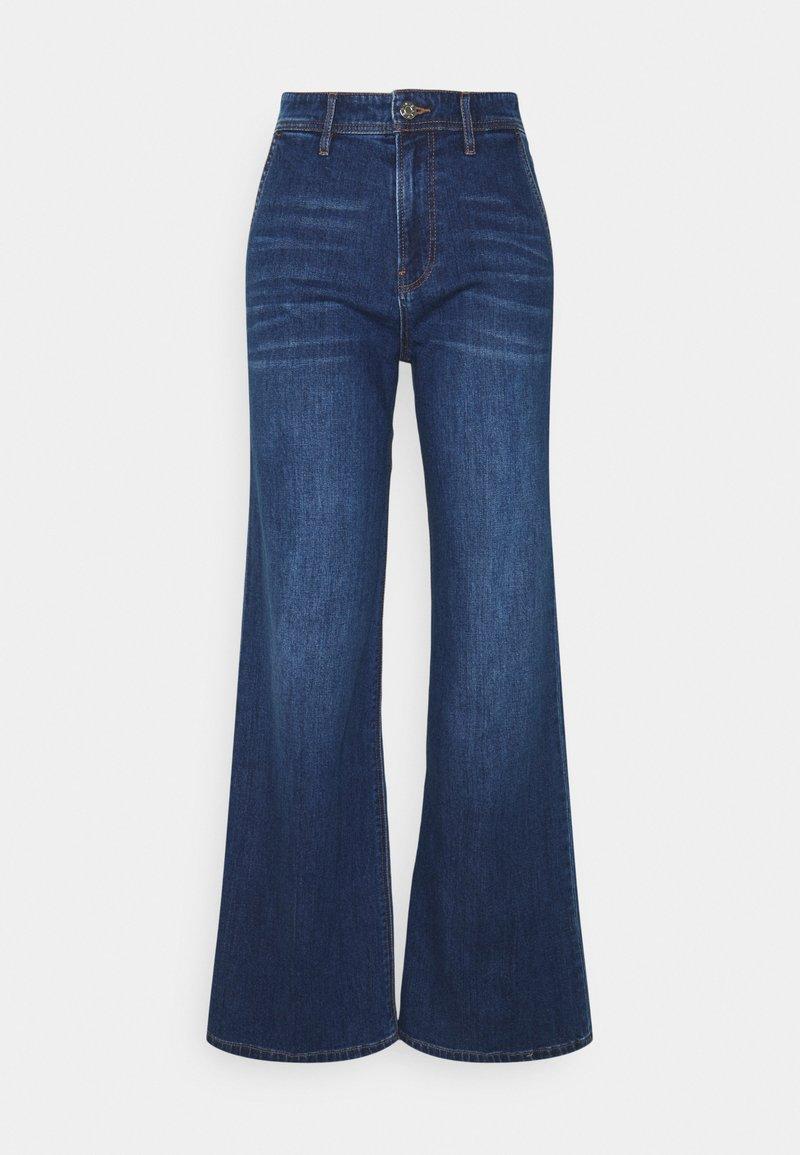 s.Oliver - Flared Jeans - blue stret