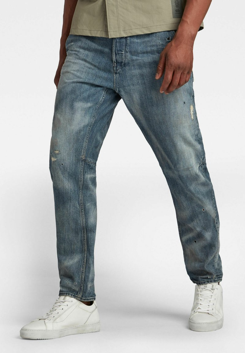 G-Star - GRIP 3D RELAXED TAPERED - Jean boyfriend - faded bay burn destroyed