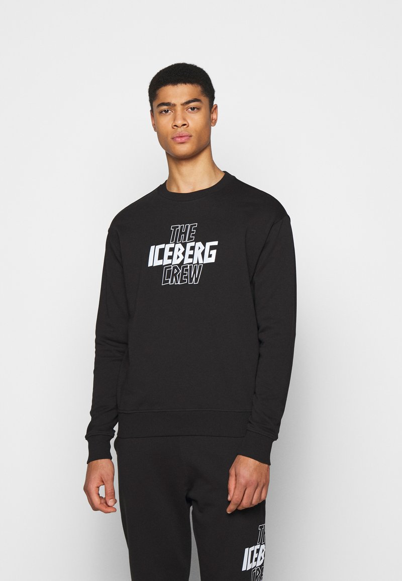 Iceberg - FELPA GIROCOLLO  - Sweatshirt - nero