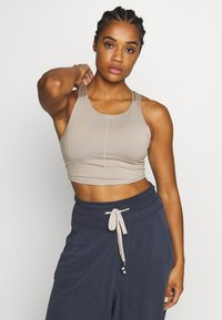 Free People - MANTRA CROP - Topper - stone - 0