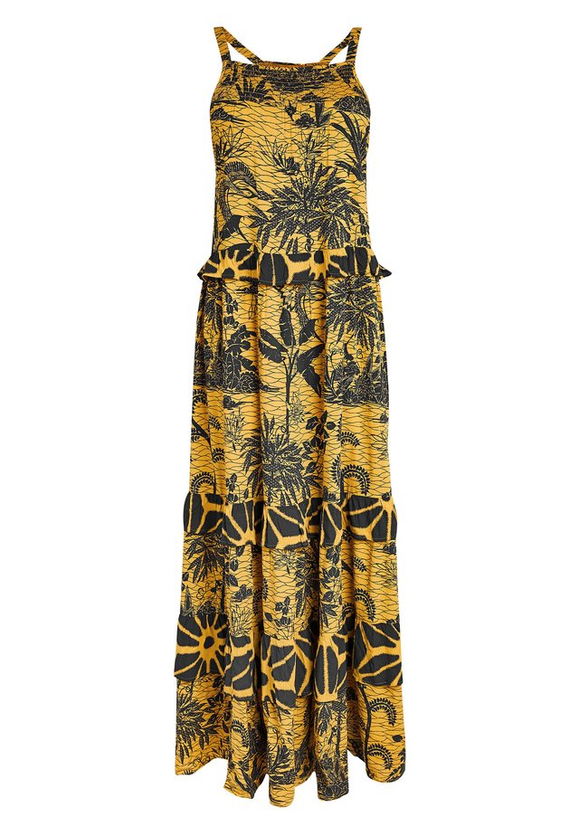 TIERED  - Maxi dress - yellow